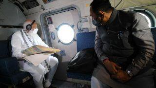 Cyclone Tauktae: PM Modi Lands in Gujarat's Bhavnagar, Takes Aerial Survey of Worst-hit Areas