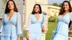 ब्लू कलर की शॉर्ट स्कर्ट में Monalisa ने दिखाया अपना बोल्ड अंदाज, फोटोशूट ने मचाया सोशल मीडिया पर तहलका