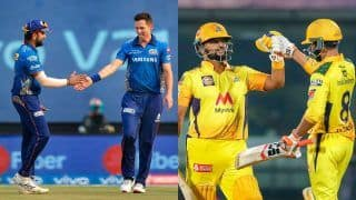 Live MI vs CSK IPL 2021 Live Cricket Score And Updates: Dhoni's Chennai Look to Continue Winning Momentum Against Arch-Rival Mumbai