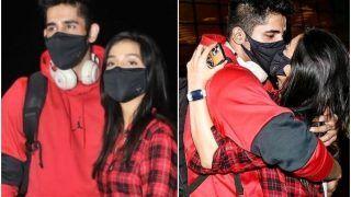 Varun Sood-Divya Agarwal Kiss Through Their Masks As He Leaves For Khatron Ke Khiladi - Watch
