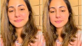 Hina Khan Tests Negative For COVID-19, Interacts With Fans In An Instagram Live Wearing Her Dad's T-Shirt