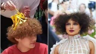 BTS V's Hairstyle Reminds ARMY Of Priyanka Chopra's MET Gala Look, Floods Twitter With Hilarious Memes