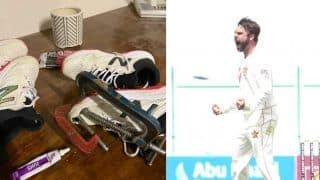 Zimbabwe Batter Raises Voice to Get Sponsorship Support; Posts Picture of Ripped Shoes