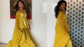 Super Dancer 4: Shilpa Shetty Treats Fans With Her Stunning Video in Yellow Shimmery Suit- Watch