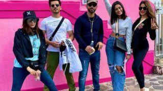 Khatron Ke Khiladi 11: Arjun Bijlani Shares Groupie With Nikki Tamboli, Rahul Vaidya From First Stunt Location