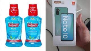 What Luck! Mumbai Man Orders Colgate Mouthwash From Amazon, Receives Redmi Note 10 Instead