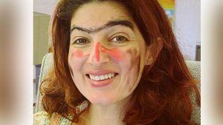 Twinkle Khanna का किसने किया ये हाल, चेहरे पर लिपस्टिक पोत दी