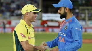"""Warner Admits That There's """"No catching"""" Virat Kohli, as He Shares his Statistics"""