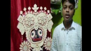 Odisha Man Makes Miniature Statue of Lord Jagannath Using 1475 Ice-cream Sticks