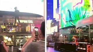 Viral Video Shows Man Flying in New York's Times Square, People Are Reminded of Green Goblin   Watch