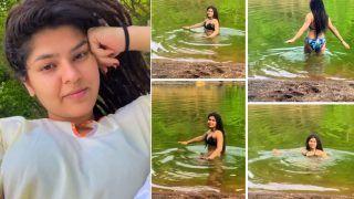'Sonu Tu Badal Gayi Re'! Taarak Mehta Ka Ooltah Chashmah's Nidhi Bhanushali Swims in River in Sizzling Bikini | Watch