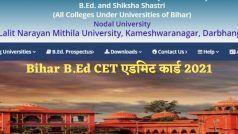 Bihar B.Ed CET Admit Card 2021: बिहार B.Ed CET 2021 का एडमिट कार्ड इस दिन होगा जारी, इस Direct Link से करें डाउनलोड