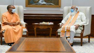 PM मोदी से मिले CM योगी, सवा घंटे तक चली बातचीत, मीडिया से नहीं की कोई बात