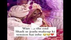 Mandap Me Makeup: मंडप  में दुल्हन का मेकअप करने लगा दूल्हा, लोग बोले- इस प्यार को किसी की नजर न लगे...