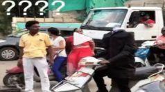 Man Without Head: बिना सिर वाला शख्स चला रहा था स्कूटी, देख लोगों की हालत हुई खराब, दिन बना देगा ये Viral Video