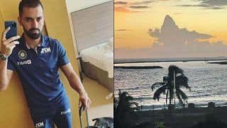 India vs sri lanka deepak chahar shares picture of lord shiva made up of cloud 4776855