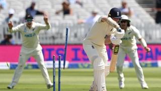 लॉर्ड्स टेस्ट: टिम साउदी, काइल जेमिसन की घातक गेंदबाजी के सामने लड़खड़ाई इंग्लैंड की पारी; लंच तक ENG 164/6