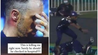'This is Killing me' - Faf du Plessis' Wife REACTS After Husband's Nasty Collision During PSL Match