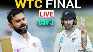 MATCH HIGHLIGHTS IND vs NZ WTC Final, Day 3 Cricket Updates: Ishant Strikes, Conway Falls; New Zealand 101/2 at Stumps vs India