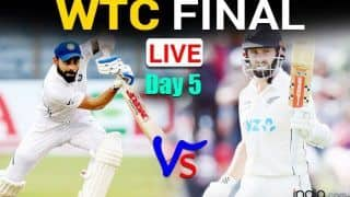 MATCH HIGHLIGHTS WTC Final IND vs NZ, Today DAY 5 Cricket Updates: Kohli-Pujara in; India Lead New Zealand by 32 Runs at STUMPS