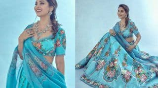 Madhuri Dixit is a Summer Dream in Rs 72,500 Lehenga With The Most Stunning Shade of Blue Ever