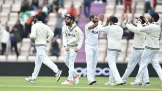 IND vs NZ: Mohammed Shami Clean Bowls BJ Watling With a Jaffa Ahead of Lunch on Day 5 | WATCH VIDEO