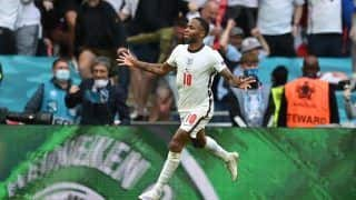 Raheeem Sterling Reacts After England Beat Germany 2-0 to Enter EURO 2020 Quarter-Final