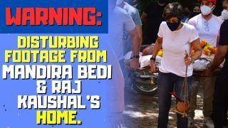 Raj Kaushal Funeral: Wife Mandira Bedi and Family Bids Raj Kaushal an Emotional Goodbye | Inside Video