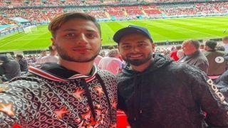 दोस्तो संग Euro Cup मैच देखने पहुंचे Rishabh Pant, पोस्ट की तस्वीरें