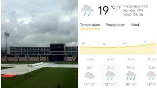 Day 3, Southampton Weather Forecast, WTC Final: Rain Set to Play Spoilsport Again