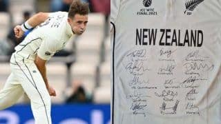 Tim southee auction wtc jersey new zealand fast bowler decided to help cancer patient hollie beattie with this money 4775897