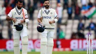 Brad hogg cheteshwar pujara slow batting could put pressure on non striker batsman icc world test championship 2021 india vs new zealand 4754941