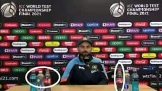 Virat Kohli Fans React as India Captain Does Not Remove Coca Cola Bottles Like Cristiano Ronaldo During PC Ahead of WTC Final