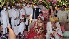 पारिवारिक शादी में मतभेद भुलाकर साथ आया यादव परिवार, सैफई में एक साथ दिखे अखिलेश और शिवपाल