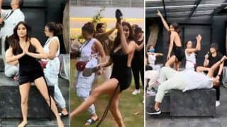 Janhvi Kapoor Takes Up Viral Temperature Challenge With Her Aksa Gang, Goes Bold in Backless Little Dress   Watch