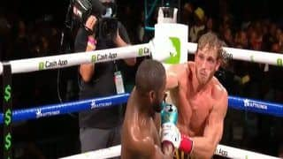 Video: Undefeated Boxing Great Floyd Mayweather vs Youtube Star Logan Paul Trading Blows In Exhibition Match