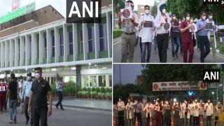 एमपी में जूडा डॉक्टरों की हड़ताल का 8वां दिन, समर्थन में एम्स-दिल्ली में प्रदर्शन