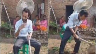 Viral Video: Farmer Ties Table Fan on His Back to Beat The Heat, Desi Jugaad Amuses The Internet | Watch