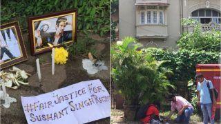 On Sushant Singh Rajput's Death Anniversary, Fans Lit Candles Outside SSR's Mount Blanc Building