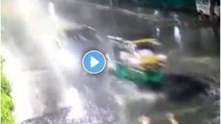 Hyderabad News: तेज रफ्तार लग्जरी कार ने ऑटो को मारी भीषण टक्कर, हवा में उड़ गया वाहन; वीडियो वायरल