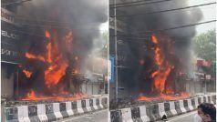 दिल्ली: लाजपत नगर सेंट्रल मार्केट की बिल्डिंग में लगी भयंकर आग, कई शोरूम जले