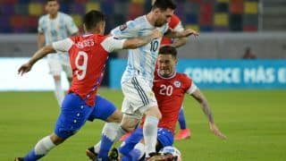 Match Highlights ARG vs CHI Updates Copa America 2021: Lionel Messi Scores as Argentina Play Another Draw Against Chile