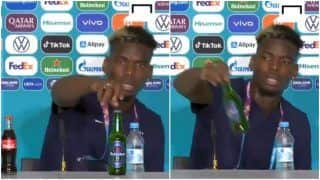 Video: Paul Pogba Follows Cristiano Ronaldo's Footsteps, Removes Heineken Bottle During Euro 2020 Press Conference