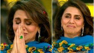 Super Dancer 4 Viral Video: Neetu Kapoor Tears up Remembering Rishi Kapoor After Kids' Performance