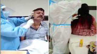 Healthcare Workers Go Beyond Duties, Braid Hair & Shave Beard of COVID-19 Patients In Odisha's Ganjam