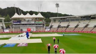 WTC Final: Match Officials on The Field as it Continues to Drizzle in Southampton