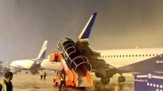 अहमदाबाद हवाई अड्डे पर अचानक आया तूफान, इंडिगो सहित कई कंपनियों के विमान क्षतिग्रस्त
