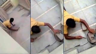 Viral Video of Man Crawling Like Snake to Cut Illegal Electricity Connection Leaves Internet in Splits | Watch