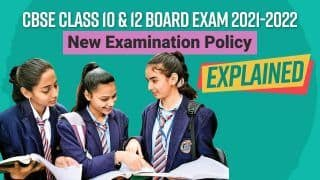 CBSE Class 10 and 12 Board Exam 2021-2022: New Exam Assessment Policy Explained