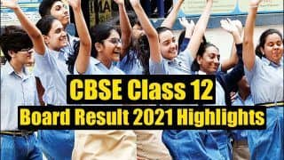 CBSE Class 12th Result 2021 Highlights: 70k Plus Students Get Over 95 Percent Marks, KVs Register 100% Pass Percent